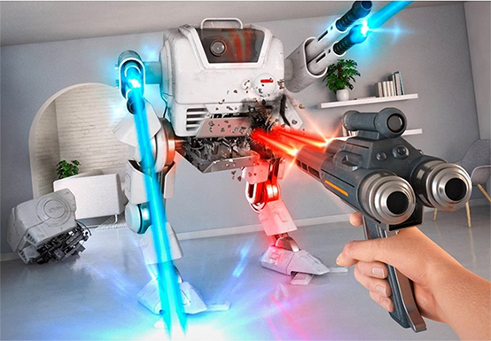 <p>Being the combination between VR and AR, MR puts digital data in the real world in the most accurate way by reproducing the 3D map of real environment and the player&#8217;s position, then combining with state-of-the-art motion sensors to ensure the interaction between the environment and the player.</p>