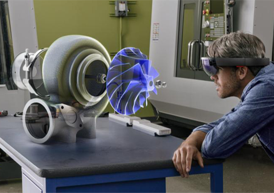 <p>This is latest technology in the world and its development is still in progress. The most famous MR-enabled projects are Microsoft Hololens and Magic Leap.</p>