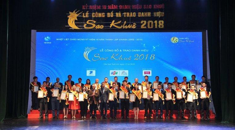 CO-WELL ASIA VINH DỰ NHẬN DANH HIỆU TOP 20 DỊCH VỤ CNTT TIÊU BIỂU SAO KHUÊ 2018