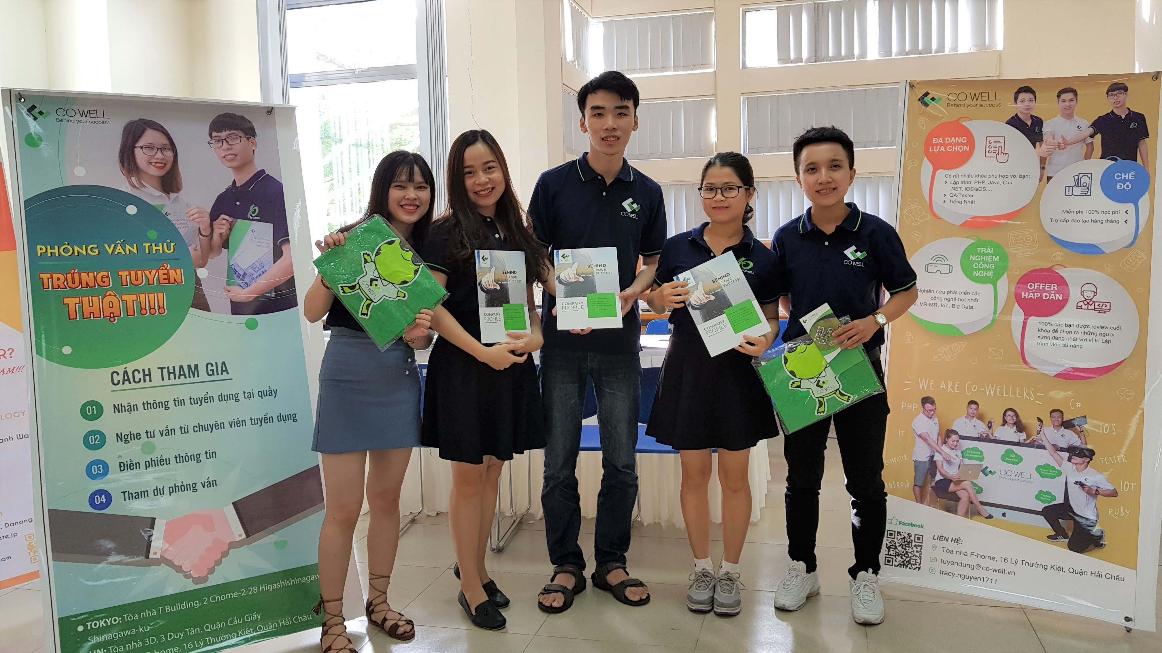 CO-WELL AT IT JOB FAIR 2018 – UNIVERSITY OF SCIENCE AND TECHNOLOGY DANANG
