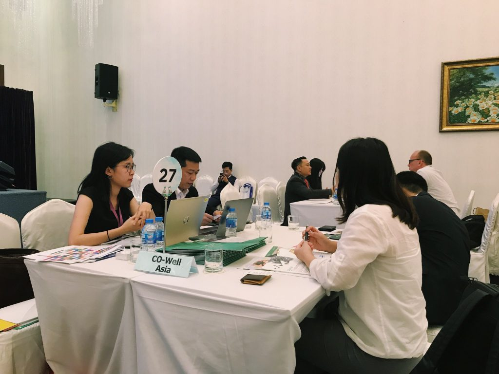 CO-WELL Asia meets international clients and partners.