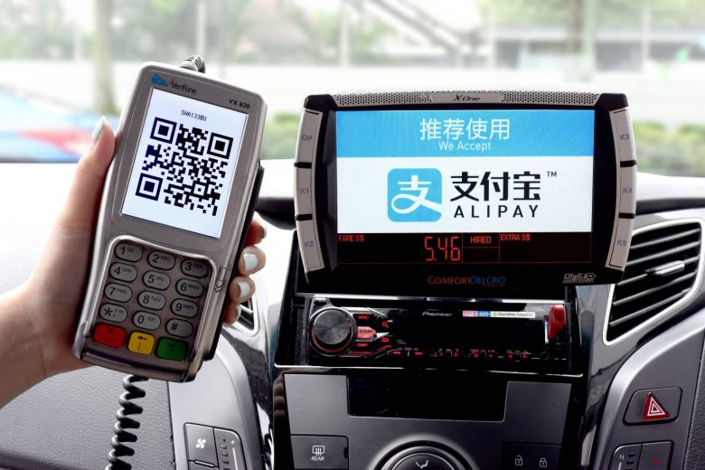 Alipay on taxi