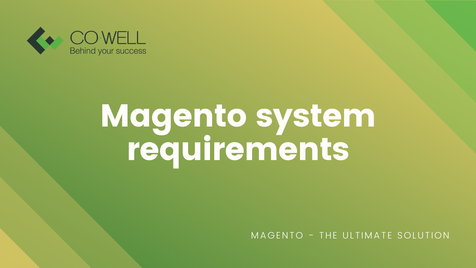 MAGENTO SYSTEM REQUIREMENTS: TO-DO LIST BEFORE INSTALLING