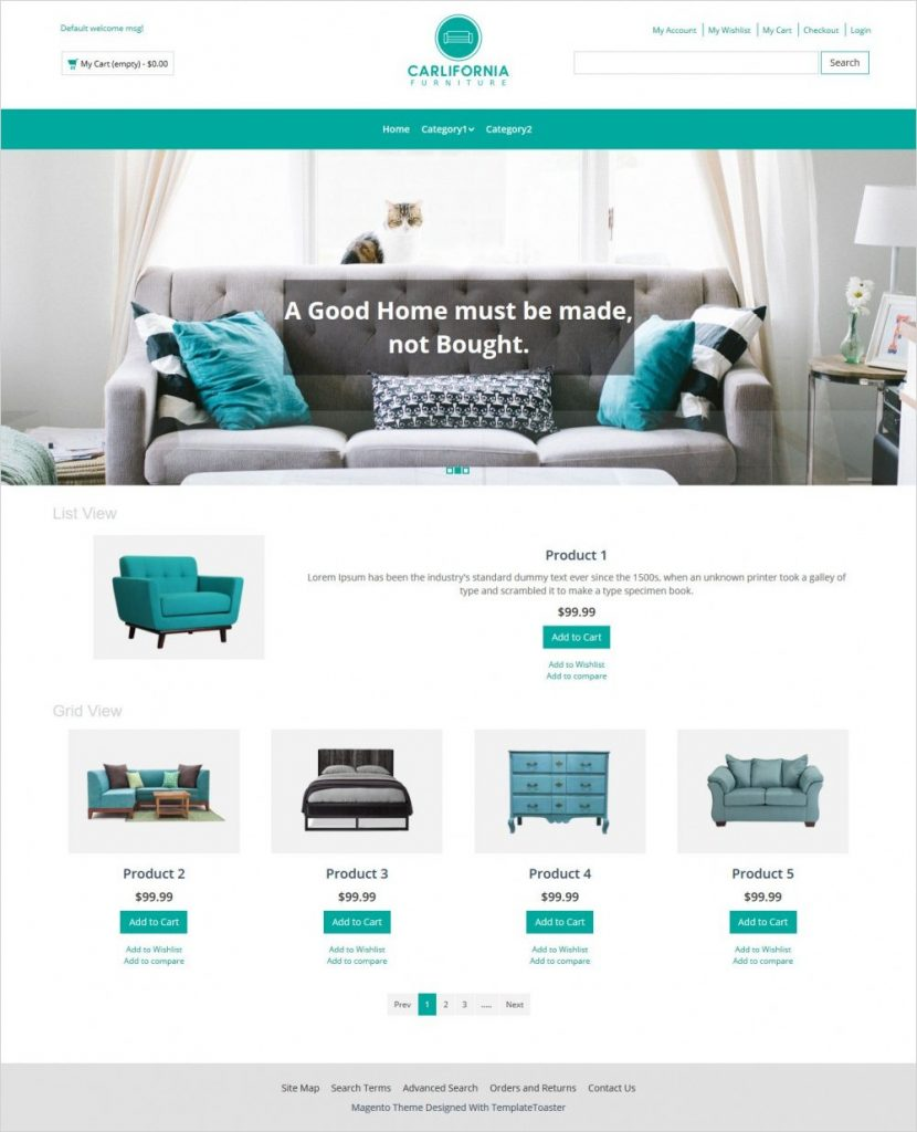 Free Magento themes for household online shops