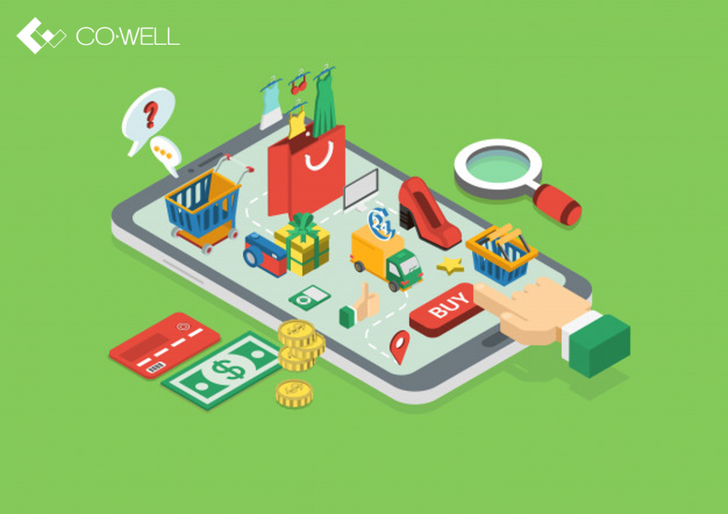 E-commerce website development service by CO-WELL Asia