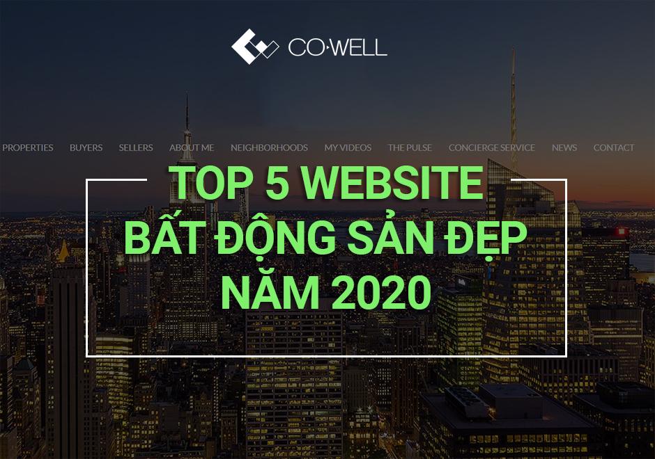 TOP 5 WEBSITE BẤT ĐỘNG SẢN ĐẸP NĂM 2020