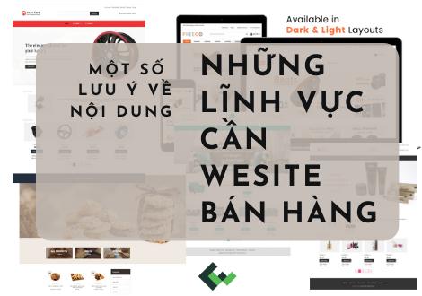 CÁC LĨNH VỰC CẦN WEBSITE BÁN HÀNG