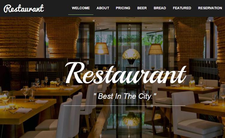 lĩnh ực cần website bán hàng - nhà hàng ăn uống