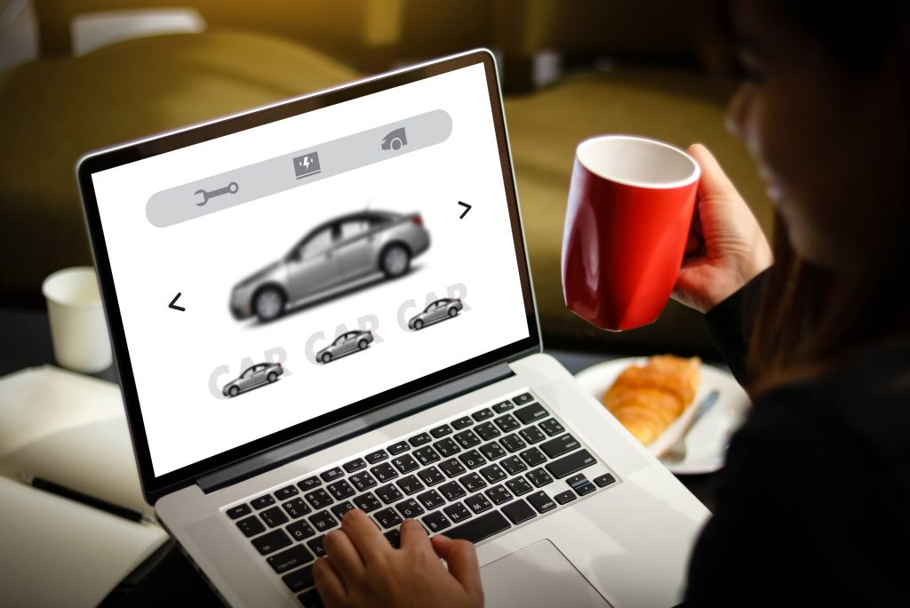 lĩnh vực cần website bán hàng: ô tô