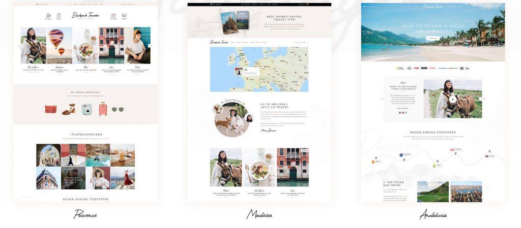 mẫu thiết kế website du lịch BackpackTraveler