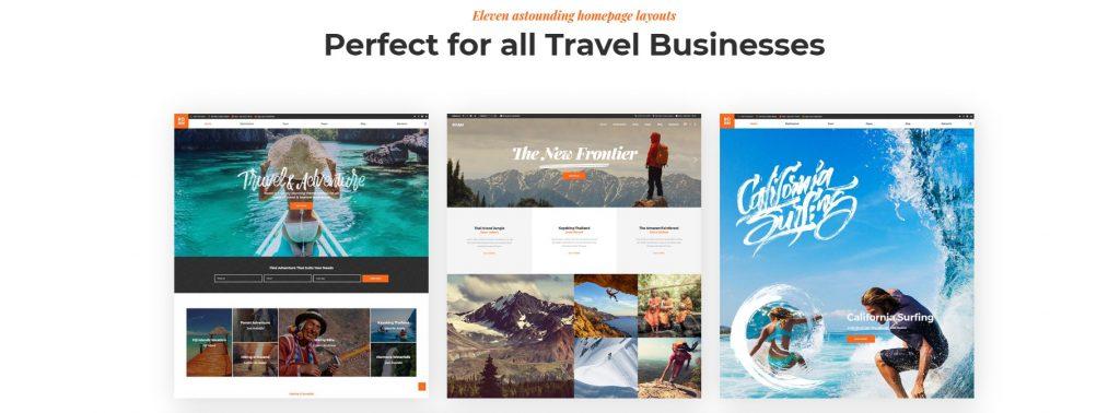 mẫu thiết kế website du lịch ROAM