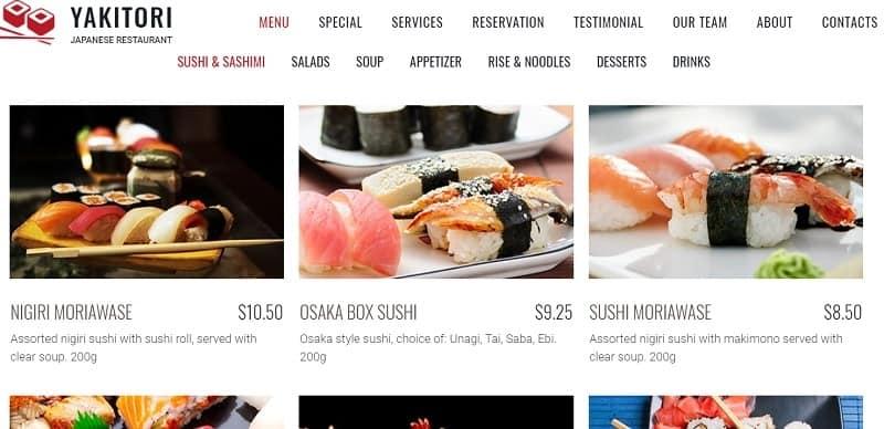 website cho nhà hàng khách sạn