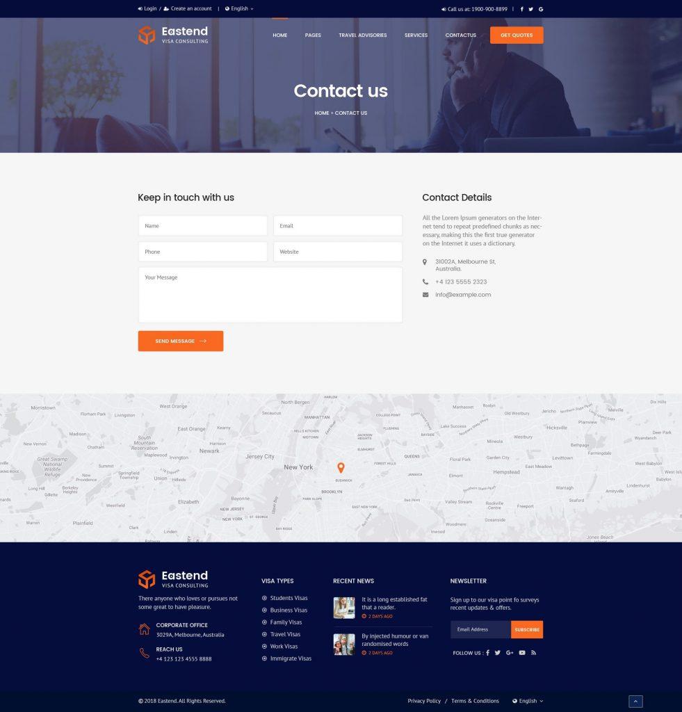 website bán hàng phần liên hệ