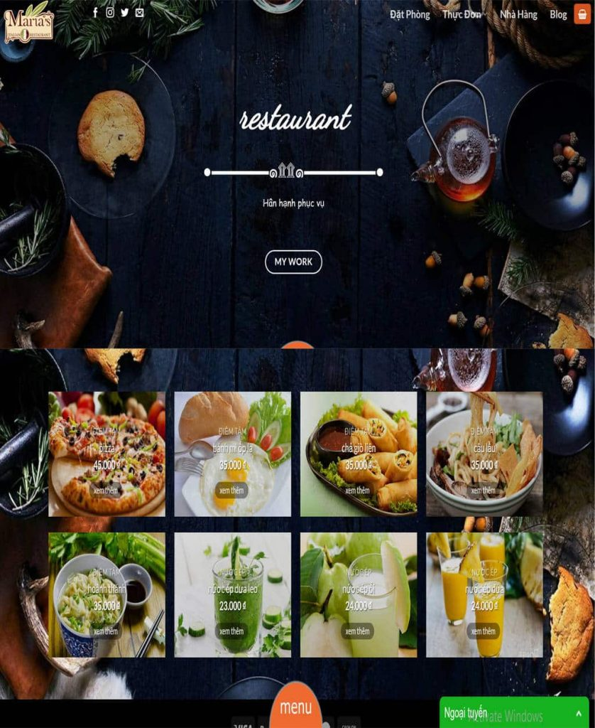 website du lịch nhà hàng