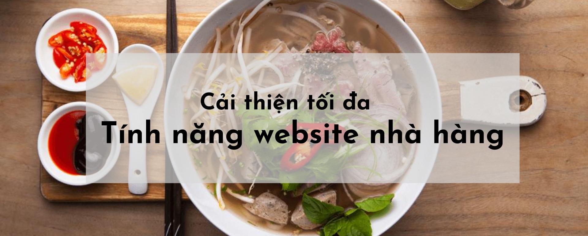 Tính năng website nhà hàng