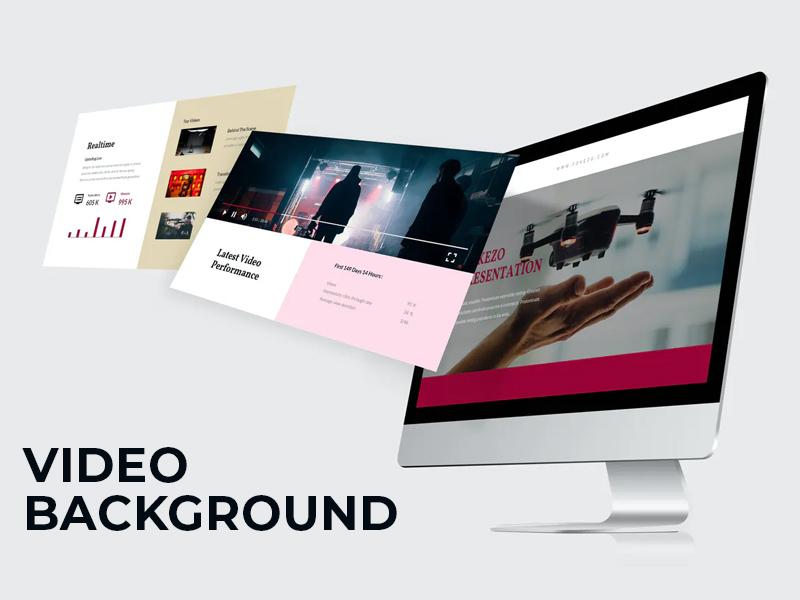 sử dụng video nền cho thiết kế web spa