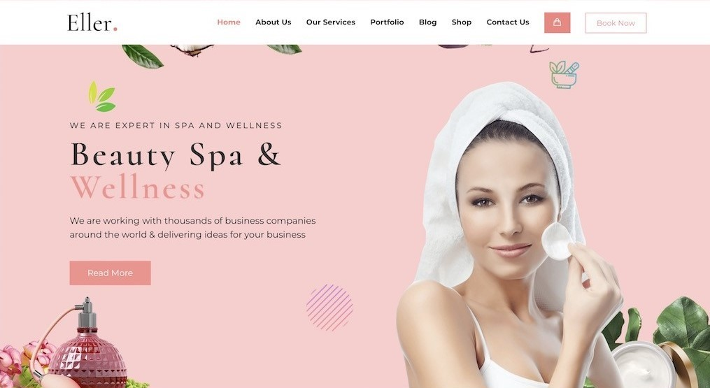thiết kế website spa salon