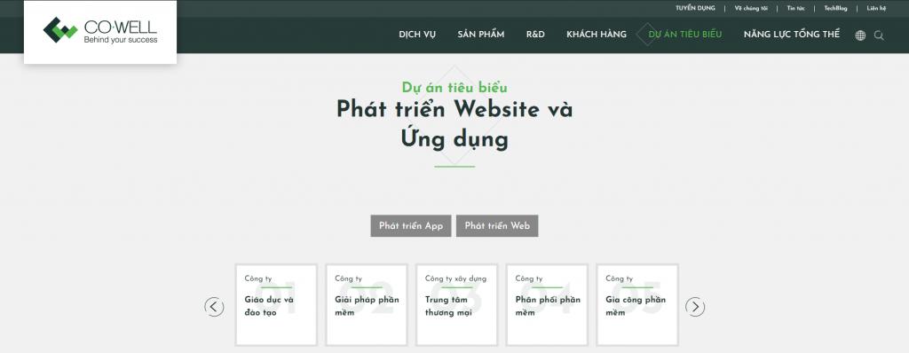 đơn vị uy tín phát triển ứng dụng web