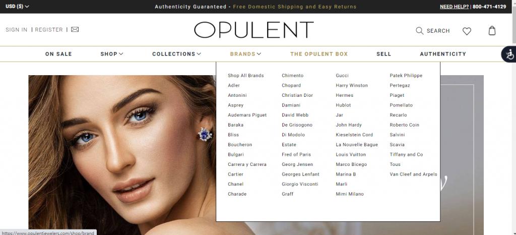 trang chủ web thương mại điện tử