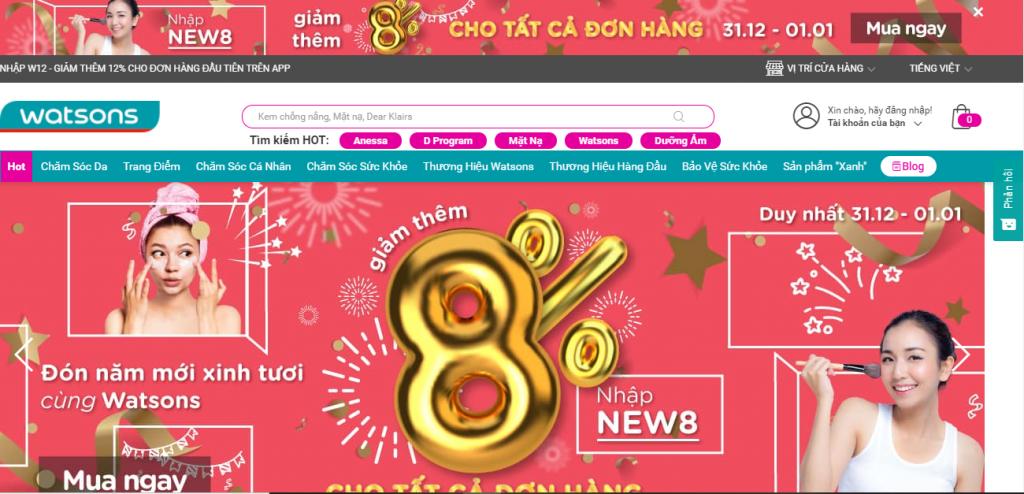 trang chu web thuong mai dien tu bang ron