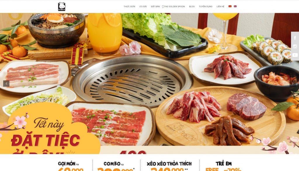 Thiet ke website nha hang thu hut khien thuc khach khong the choi tu 1 Co well