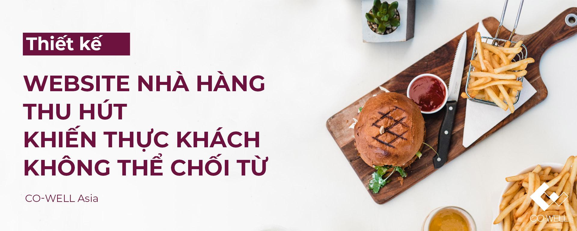 Thiet ke website nha hang thu hut khien thuc khach khong the choi tu Co well ngang