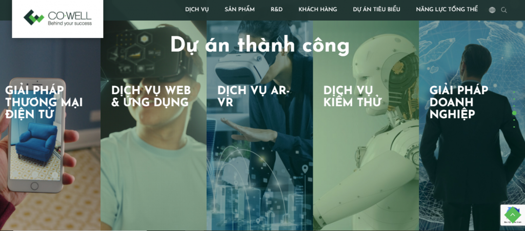 website cua nha phat trien