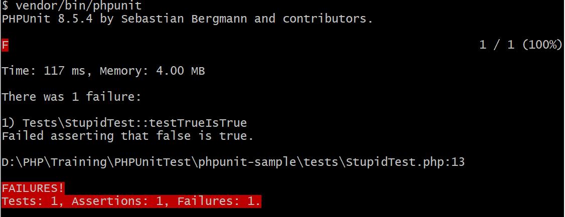 PHP unit testing