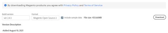 Trang tải xuống Tài nguyên Công nghệ Magento.